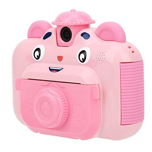 EBTOOLS - Cámara de fotos para niños con impresión instantánea para niños, pantalla de 2,4 pulgadas con 3 rollos de papel de impresión, cámara para niños, regalo creativo (rosa)