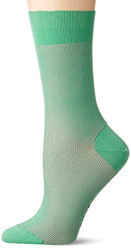 FALKE Damen Socken Color Shade, Baumwollmischung, 1 Paar, Grün (Neo Mint 7133), Größe: 41-42