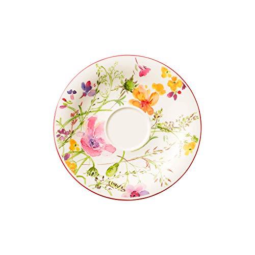 Villeroy & Boch Mariefleur Basic Sous-tasse, Porcelaine Premium, Blanc/Multicolore, 19 cm