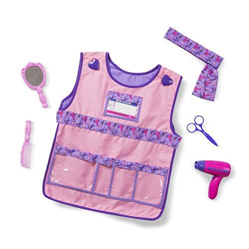 Melissa & Doug Hair Stylist Role Play Costume Dress-Up Set (7 pcs)