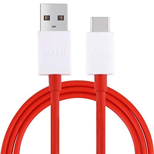 para OnePlus 7P / 7 / 3T / 5T / 6 4.5A USB a USB-C/Type-C Cable de Carga Android Cable de Carga del teléfono móvil, Longitud del Cable: 1m Durable (Color : Red)