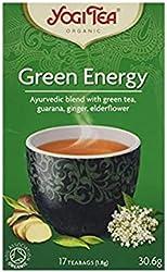 Yogi Organic Ancient Green Energy Tea + Kombucha/ Guarana - 17 Tea Bag, 30.6g