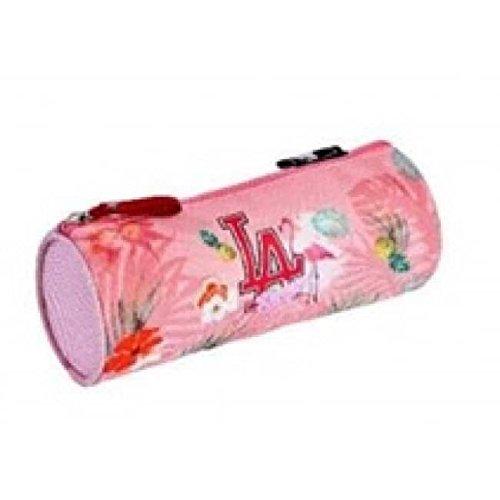 Estuche escolar Major League Baseball L.A redonda rosa 1 compartimento: Amazon.es: Oficina y papelería
