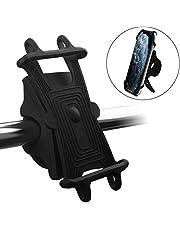 自転車ホルダー ONUEMP オートバイ スマホ ホルダー 最新 360度回転 バイク スマホ ホルダー Face IDに対応 取り外し可能 脱着防止 携帯ホルダー iPhone 11 Pro 4.5-7.0インチ iPhone/Android全機種に適用 振れ止め 強力な保護 黒