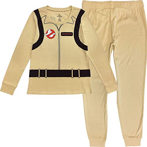 Party City Ghostbusters Pajama Set for Women, Halloween Costume Sleepwear, Small/Medium, Includes Top and Pants