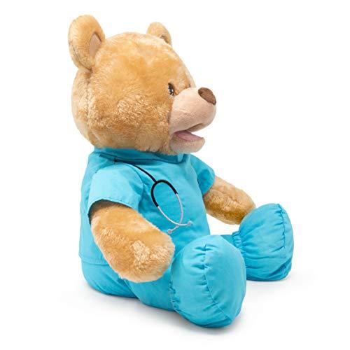 Product Image 2: Cuddle Barn | Feel Good Glenn 10″ Bear Animated Stuffed Animal Plush Toy | Teddy Bear in Blue Scrubs Sings I Feel Good