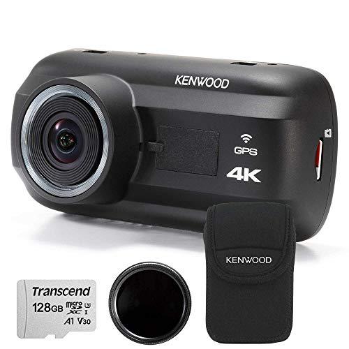 Kenwood DRV-A601W Travel ProPack 4K Dash Cam & 128GB SDXC Card, Polarised Filter + Carry Case