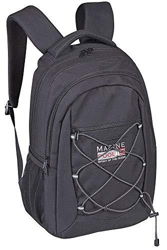 Marinepool Skipper-Rucksack mit Zwei Taschen Farbe schwarz