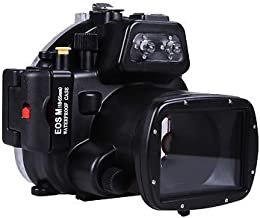 MEIKON 130ft 40m Underwater Waterproof Camera Housings Case for Canon EOS M 18-55mm Camera Lens