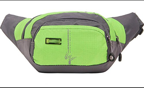 ZYT Changent de poches en nylon imperméable sports de plein air hommes et femmes équitation sacoche sacs en tissu . emerald green