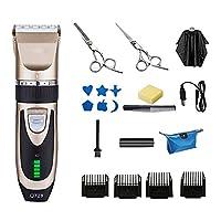 電動 バリカン USB 充電式 ヘアカッター 散髪用 コードレス ばりかん はさみセット五段階刈り高さ調節可能 防水 子供・家庭・業務用