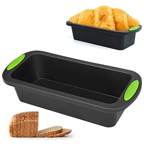 Moldes Silicona,OYSJ Molde Hornear Rectangular, Moldes Tostadas de Silicona,para Panes, Quiche, Pastel de Carne, Pasteles y Lasaña