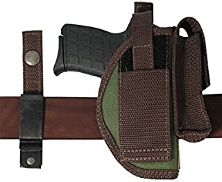 Barsony New Woodland Green Ambidextrous 360Carry 8 Option Holster w/Mag Pouch for 380 Ultra Compact 9mm 40 45