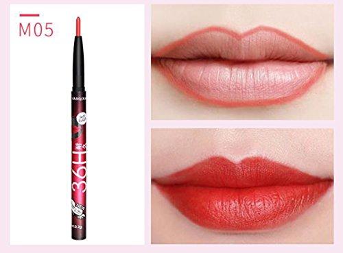 AKAAYUKO 1PCS Crayons à Lèvres Professionnels pour Lèvres Maquillage -#5