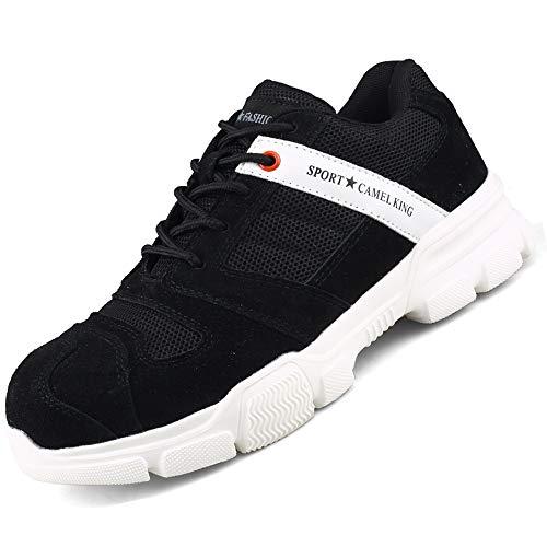 BESKEE Sportliche Sicherheitsschuhe Arbeitsschuhe Herren Damen S3 Leicht Atmungsaktiv Stahlkappen Sneaker