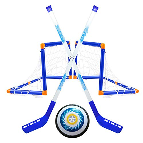 Lowest Price! æ— Indoor Sport Ball Games Hockey Floorball Stick Portable Electric Ice Hockey Set Hockey Passing Toy for Indoor Outdoor Sports