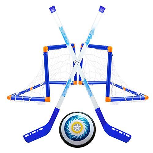New INFILM Kids Folding Portable Hockey Electric Ice Hockey Set,Mini Goal Removable Suspension Ball ...