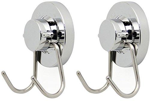 Saughaken / SFTlite [2er Pack] Vakuum Edelstahl Saugnapfhaken Wandhaken Badetuch Haken Heavy Duty Saugnapf Haken hält bis zu 6.8Kg Saugnapf Wandhaken Küche und Bad Vakuum Saughaken Saugbügel