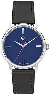 Benz Original Reloj Pulsera Hombre Basic Azul Acero INOX. Pulsera de Cuero