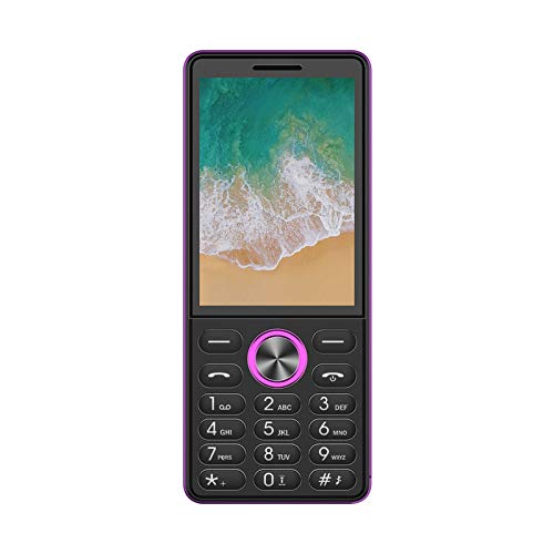 I KALL K555 Smart Series Multimedia Feature Keypad Mobile Basic Bar Phone with Triple SIM Card Camera Fast Charging Torch Bluetooth (Pink 2.8 inch)