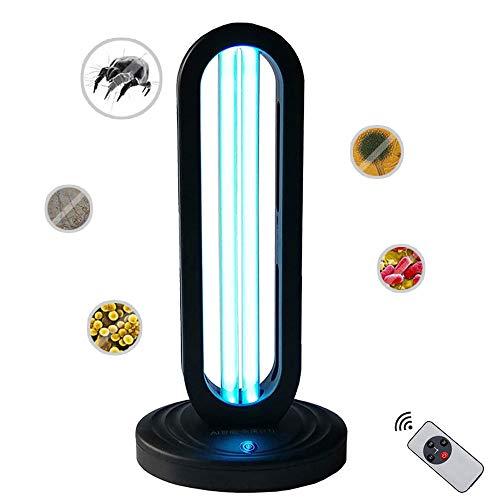 KKTECT UVC Lámpara Germicida Ultravioleta con Control Remoto, Portátil Varilla Germicida de Ozono de 38 W, Esterilización del 99%, para Nido de Mascotas, Toalla, Baño, Automóvil