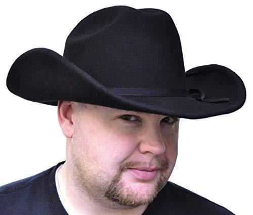 Costumes For All Occasions GA09LG Cowboy chapeau de feutre noir - grande