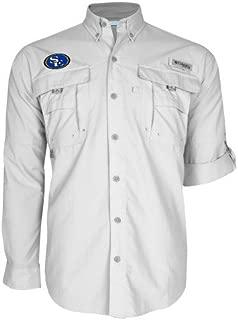 Southeastern Oklahoma State Columbia Bahama II White Long Sleeve Shirt 'SE Primary Logo'