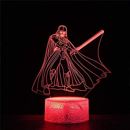 3D illusion night light children mood light 7 color remote control and touch button holiday gift light - Star Wars-Jedi