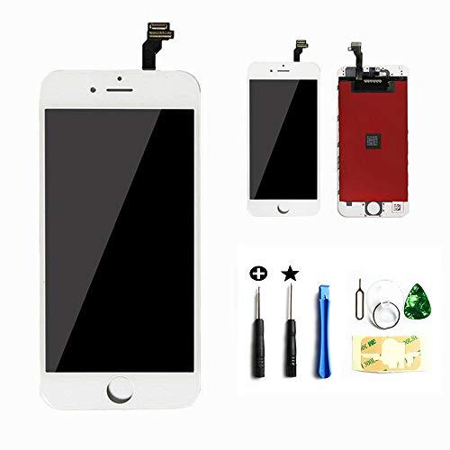 passionTR Kompatibel für iPhone 6 Plus Display LCD Bildschirm, LCD Touchscreen Bildschirm Reparatur Glas Komplett mit kostenlosen Werkzeugen Weiß