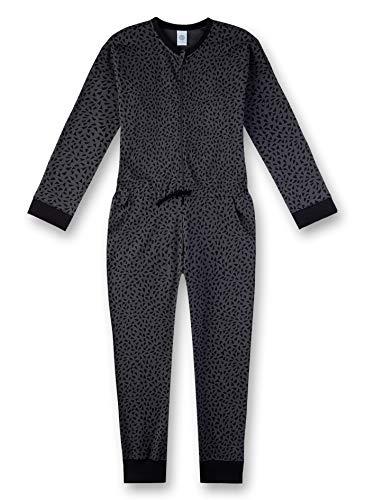 Sanetta Mädchen Jumpsuit Einteiliger Schlafanzug, Grau (Iron 10051), (Herstellergröße: 176)