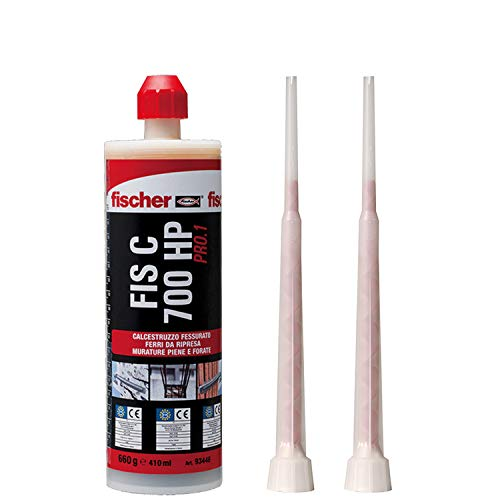 Fischer 2999360 FIS C700 HP PRO.1 Ancorante Chimico a iniezione per calcestruzzo fessurato, riprese di Getto e muratura