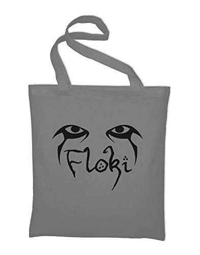 Styletex23 Floki Vikings TV Serie Jutebeutel Baumwolltasche, light grey