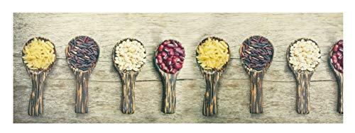 Tappeto Cucina Decor passatoia Varie Misure Antiscivolo Disegno CASA Digital OlivoShop® (LEGUMS, 50X190)