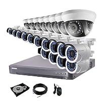 防犯カメラ 22台 DVR24ch HDD 6TB付き 防犯カメラセット 243万画素 監視カメラ HD-TVI 動体検知 赤外線 防水 スマホ 遠隔監視 屋内 用 8台 屋外 用 14台