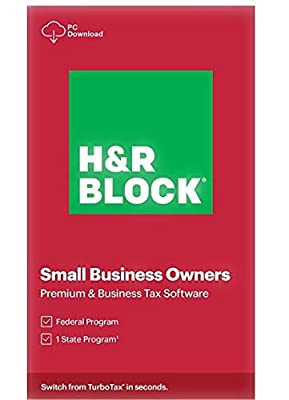 H&R Block Premium and Business Tax Software 2020 Physical Key Card PC/Windows Only