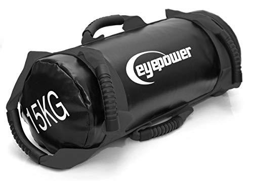 EYEPOWER 3,75-15 kg Power Bag 18x50 cm filled with sand free weight Sandbag Black
