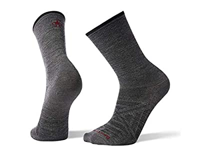 Smartwool PhD Outdoor Light Crew Socks - Men's Ultra Wool Performance Sock MEDIUM GRAY Large