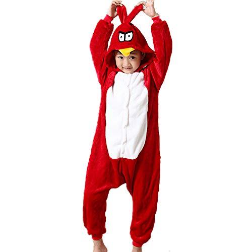 zpllsbratos Nios Pijamas Animales Ropa de Dormir Cosplay Disfraz para Carnaval Halloween Navidad(Pjaro Carpintero,Etiqueta 85 para Altura 95cm-105cm)