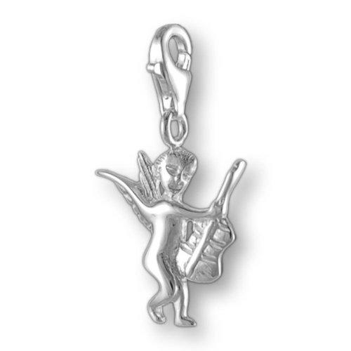 Melina Damen-Charm Anhänger Engel mit Gitarre 925 Sterling Silber 1800569
