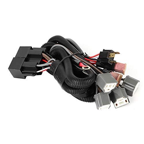 Arnés de cableado, ABS Car LED Luz de faro Arnés de cableado...