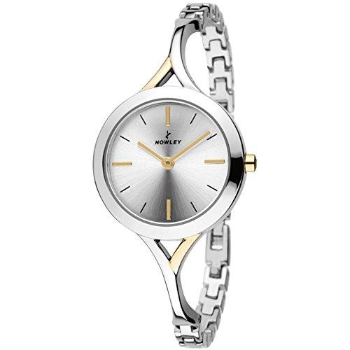 Nowley 8-5722-0-0, Reloj de mujer, combinado en dorado.