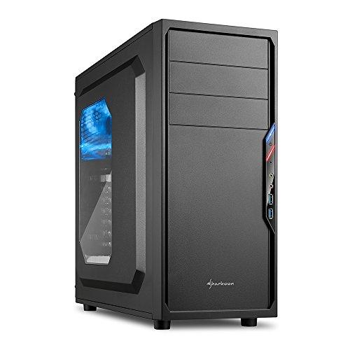Sharkoon VS4-W PC-Gehäuse mit Window Kit (2x USB 3.0, ATX) schwarz/blau