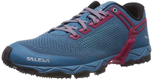 Salewa WS Lite Train Knitted, Zapatillas de Trail Running para Mujer, Malta Vivacious, 39 EU