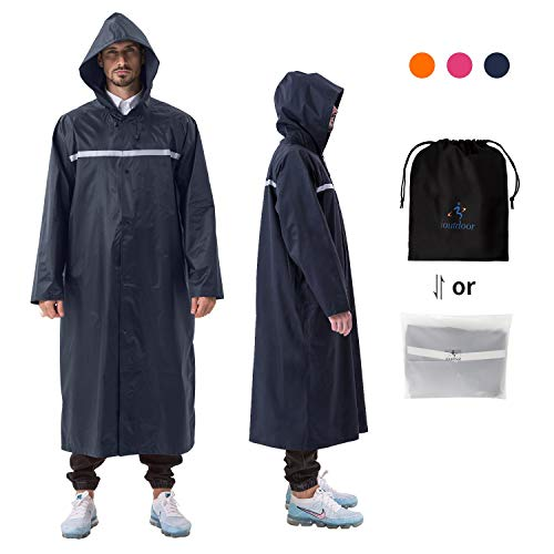 Size : M Fashion Wearable Hooded Reusable Fashion Mens Raincoat for Outdoor Rain And Snow Weather Motorcycle Electric Car Camping Travel Black GRYY Raincoat Rain Pants Suit