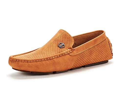 BRUNO MARC NEW YORK Men's 3251314 Tan Penny Loafers Moccasins Shoes Size 10.5 M US