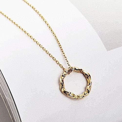 BEISUOSIBYW Co.,Ltd Necklace Fashion Modern Popular Exquisite Necklace Irregular Round Chain Pendant Female Silver Ornaments Women s Jewelry Silver Ornaments Decor
