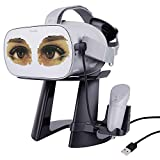 AMVR VR Stand -Virtual Reality 3D Glass Headset Display Holder, VR Headset Station with Magnetic USB Cable for...