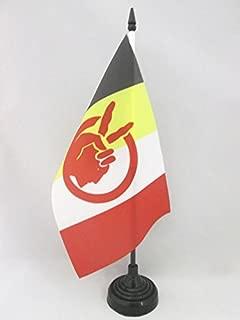 AZ FLAG American Indian Movement Table Flag 5'' x 8'' - Native American Tribe Desk Flag 21 x 14 cm - Black Plastic Stick and Base