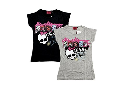 Monster High T-Shirt Chicks Rule (116, weiß)