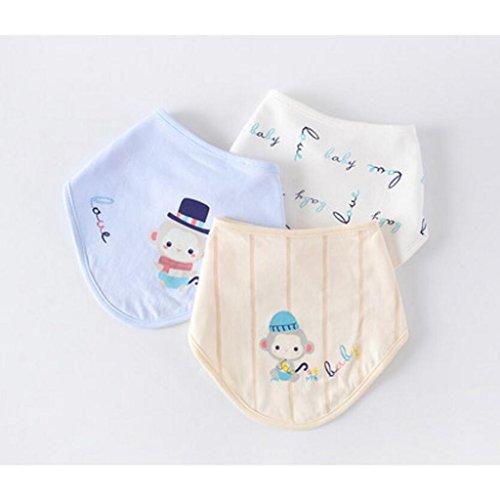 Liuyu · Woonhuis Baby Breien Driehoek Handdoek Saliva Doek Katoen Verstelbare Snap Knop Neonatale benodigdheden 3 Stks/Set